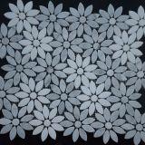 Ultimo Deisgn fiore Waterjet del marmo del mosaico di 2017 per il pavimento