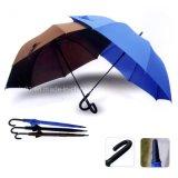 Paraplu Van uitstekende kwaliteit van het Meubilair van de douane de Openlucht Rechte met de Druk van het Embleem