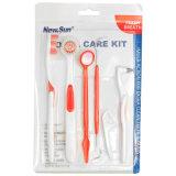 Kits dentais grossistas com fio dental, Floss Pick & Cap, escova de dentes Kits de dentes