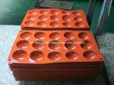 Kammer-halbe Kugel-Form-Silikon-Eis-Tellersegmente des Nahrungsmittelgrad-15 mit Stich-Firmenzeichen