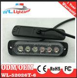 Lampada di superficie sottile eccellente istantaneo dell'indicatore luminoso d'avvertimento 6 LED del supporto