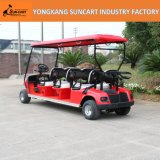 強力な赤いカラー電気6人のゴルフカート、観光のゴルフカート、販売のための安いゴルフカート