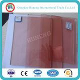 Vidrio de flotador rosado/vidrio teñido para 4m m 5m m 6m m 8m m