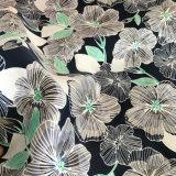 Tissu 100% de Microfiber d'impression de fleur de polyester pour le circuit de plage