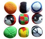 ギフトの蹴りのHackyの袋によって編まれるかぎ針編みのFootbagのカスタマイズされた昇進の球