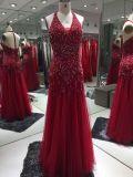 Schweres bördelndes Abend-Kleid, Abschlussball-Kleid, reizvolles Partei-Kleid