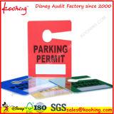 Top fábrica de impresión de plástico PP Impresión permiso de estacionamiento etiqueta colgante