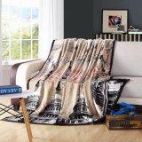 البيضاء منزل تصميم طباعة ليّنة فانل صوف غطاء على أريكة أو سرير