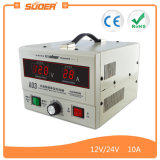 Chargeur de batterie solaire rechargeable Suoer 12V 24V 30A (A03)