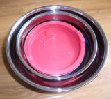 0.8mm Roestvrij staal Mixing Bowl met Silicone Base