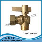 물 미터 (V18-807)를 위한 똑바른 금관 악기 Lockable 공 벨브