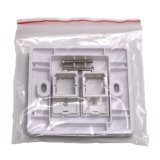 RJ45 1 Porta CAT6 / Cat5e Faceplate Single Port Double