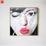 De mooie Vrouwen zien Met de hand gemaakt Olieverfschilderij onder ogen