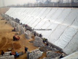 방어용 흙둑 제품 비 길쌈된 긴 섬유 Geotextile