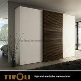 광택 백색 색칠 단단한 나무 미닫이 문 옷장 만원 가구 제조업 Tivo-056VW