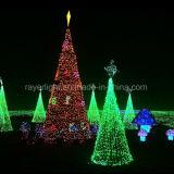 Bajo costo al aire libre de la bandera de Navidad plam árbol decoración de la luz