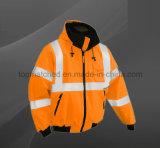 Revestimento reflector de segurança de segurança de alta visibilidade para homens de alta qualidade