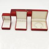 De plastic Doos van Juwelen met Fluweel en Afgedrukt Embleem (j55-e)