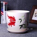 Un insieme creativo del Patten di 3 POT decorativi della pianta, Flowerpots di ceramica del giardino