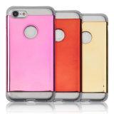 2 en 1 Protección de doble capa dura de la PC con contraportada + Soft TPU de parachoques [Slim Fit] Caso de 4,7 pulgadas iPhone 7