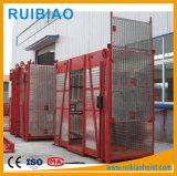 2 Ton jaula doble de elevación del alzamiento de la construcción para la venta