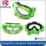 Mxの太字マスクによってカスタマイズされるストラップの反霧レンズの緑のオートバイの乗馬のゴーグル
