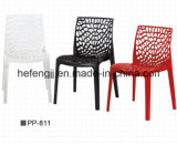 Nuevo Diseño Silla de plástico malla de base libre apilable-PP811