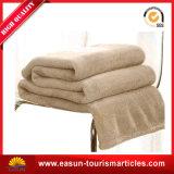 Venda por duas pessoa aconchegue-Plush cobertor com logotipo Bordado