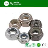 Verzinkte galvanisierte Hex Nyloneinlage-Gegenmutter (DIN985)