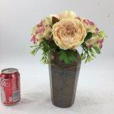 Mini decoración de la oficina de las flores artificiales de la talla