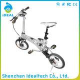 Bicicletas de dobramento da cidade do escudo de sela do couro de imitação de liga de alumínio