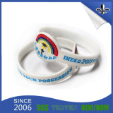Bracelet en caoutchouc de silicones de bracelets multicolores de mode de logo d'OEM