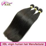 自然化学まっすぐなヘアスタイルのバージンの毛の束無し