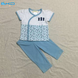 Blue Color Vêtements bébé V-Neck Baby Sleep Set