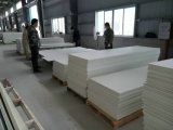 Superfície contínua acrílica Corian de China da folha branca da venda por atacado 12mm (GB101)