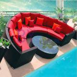 Mobilia stabilita del giardino del sofà esterno stabilito del sofà del rattan del PE