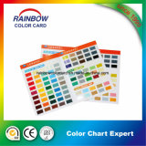 Cartão promocional de cores Pantone para pintura óleo-base