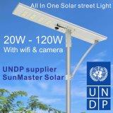 1つの統合された太陽LEDの街灯の試供品すべて
