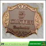 カスタマイズされたデザイン高品質の赤ワインの金属のラベル