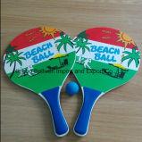 Racchetta della spiaggia con il grado sicuro materiale di legno ecologico
