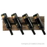 Cremalheira de indicador fixada na parede de madeira creativa do frasco de vinho do presente elegante