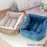 Coral Soft Winter Warm Dog Cushion Quadrado de camas de estimação reunidas