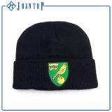 Comercio al por mayor grandes Beanie Hat Patrón con bordado plano