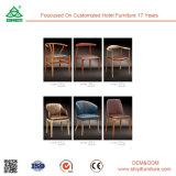 Новый роскошный дизайн цельной древесины креста назад обеденный стул