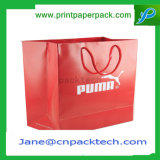 Anunció la bolsa de papel promocional de Kraft de los bolsos de las compras del portador