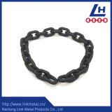 G80 de 13mm pintado de negro de la cadena de amarre en el tambor de acero