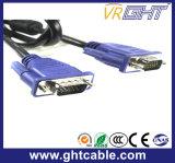 モニタまたはProjetor (J002)のための1.5mの高品質の男性男性3+4 VGAケーブル