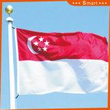 Kundenspezifisch imprägniern und Sunproof Staatsflagge-Singapur-Staatsflagge