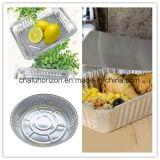 323*266*64mm Aluminiumfolie-Tellersegment für Lebensmittelsicherheit-Grad