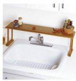 Estantes de bambú del lavabo, estante de bambú del lavabo, marco del lavabo